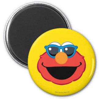 Aimant Visage de sourire d'Elmo avec des lunettes de