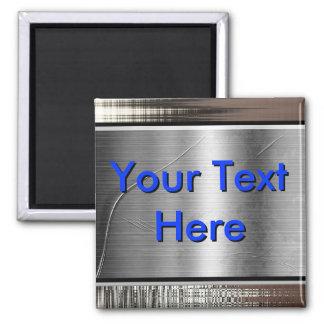 Aimant Votre texte ici Metal l'aimant de bannière