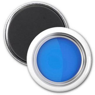Aimant Vue supérieure de peinture bleue