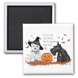 Aimant Westie et Scottie Halloween