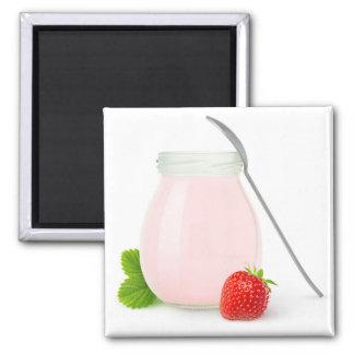 Aimant Yaourt de fraise