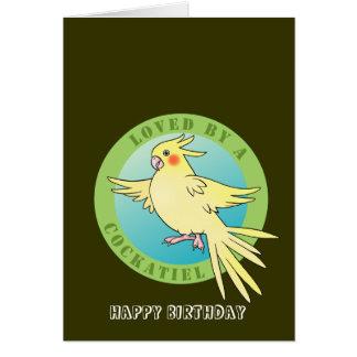 Aimé par une carte d'anniversaire d'oiseau de