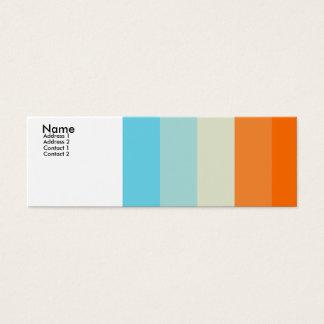 Aimer de couleur mini carte de visite