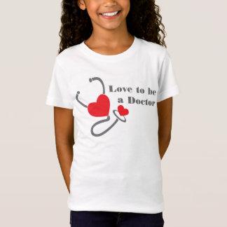 Aimez être un T-shirt de coeur de stéthoscope de
