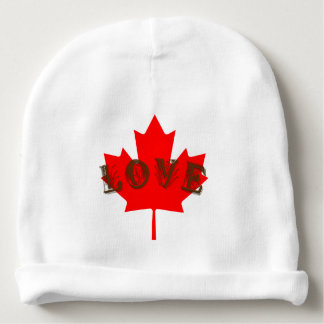 Aimez le casquette de bébé de feuille d'érable bonnet pour bébé