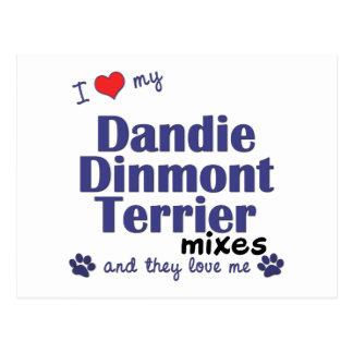 Aimez mes mélanges de Dandie Dinmont Terrier (les Carte Postale