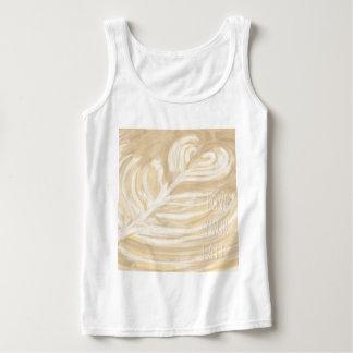 aimez votre art de latte débardeur
