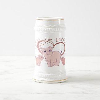 Aimez-vous, art mignon de Piggies Chope À Bière