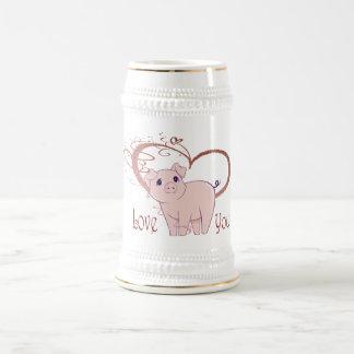 Aimez vous, le porc mignon et le coeur de remous chope à bière