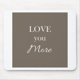 Aimez-vous plus de Valentines de coussin de coeur Tapis De Souris