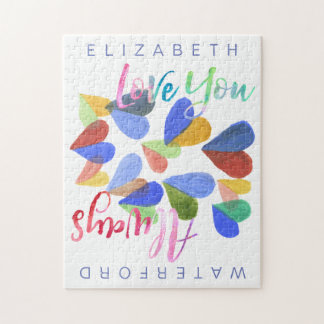 Aimez-vous toujours les coeurs peints à la main puzzle