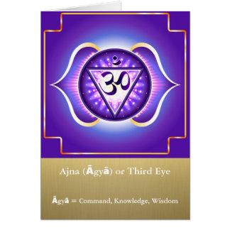 Ajna (Āgyā) ou carte de voeux de Chakra de