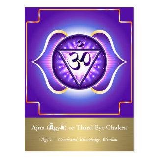 Ajna (Āgyā) ou carte postale de Chakra de