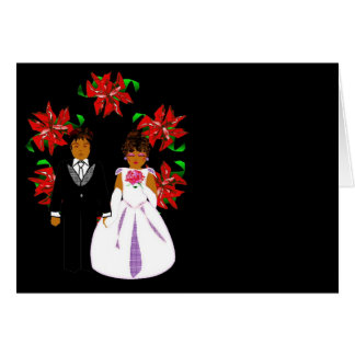 Ajouter de mariage de Noël à la guirlande Carte De Correspondance