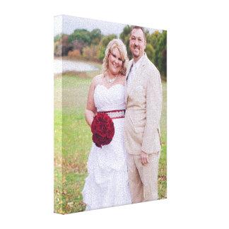 Ajoutez la photo de mariage ou toute autre 'toile toiles