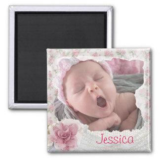 Ajoutez la photo de votre bébé, aimant de dentelle