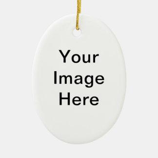 Ajoutez le PICS, les graphiques et le texte à 100s Ornement Ovale En Céramique
