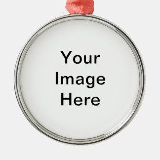 Ajoutez le PICS, les graphiques et le texte à 100s Ornement Rond Argenté