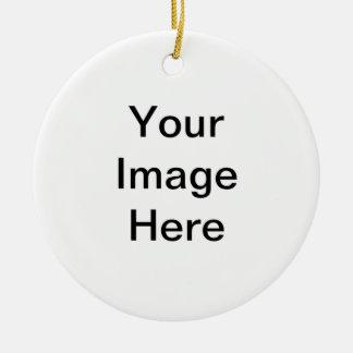 Ajoutez le PICS, les graphiques et le texte à 100s Ornement Rond En Céramique
