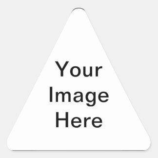 Ajoutez le PICS, les graphiques et le texte à 100s Sticker Triangulaire