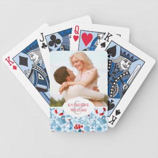Ajoutez votre blanc rouge | nautique nommé et bleu jeu de cartes