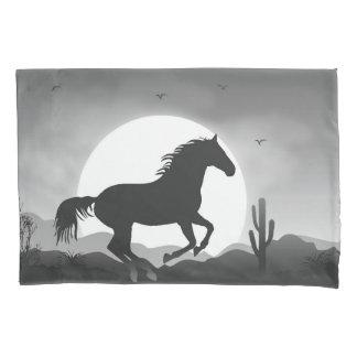 Ajoutez votre cheval des textes en silhouette housse d'oreillers