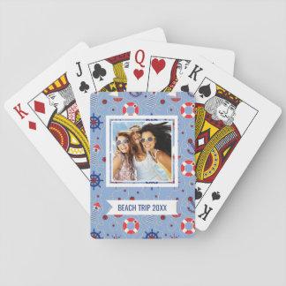 Ajoutez votre conception nautique de patchwork jeu de cartes