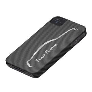"""""""ajoutez votre logo gris de silhouette"""" de mustang coques iPhone 4"""
