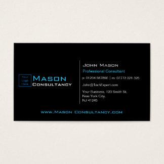 Ajoutez votre logo noir et bleu - carte de visite