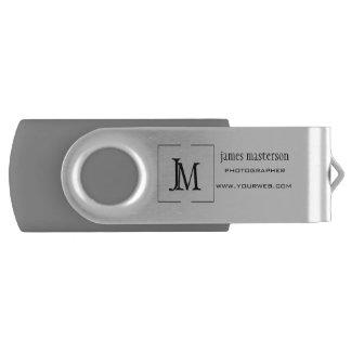Ajoutez votre monogramme professionnel d'affaires clé USB 3.0 swivel