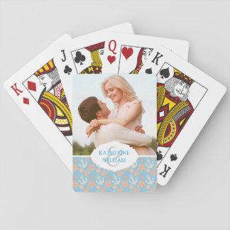 Ajoutez votre motif nautique | en pastel nommé cartes à jouer