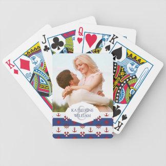 Ajoutez votre motif | nautique nommé de bannière jeu de cartes