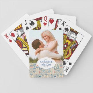 Ajoutez votre motif | nautique nommé de journal jeu de cartes