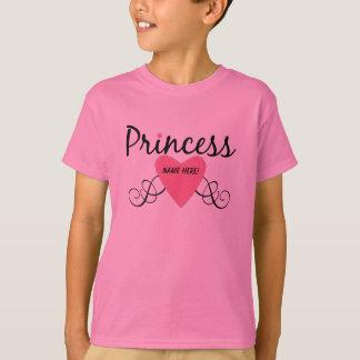 Ajoutez votre princesse nommée T-shirt