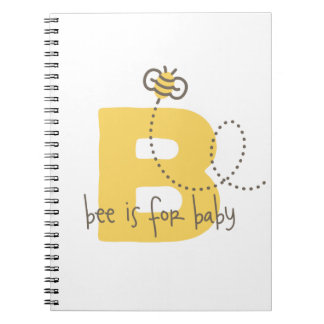 Album photos ou journal de bébé d'abeille de miel carnet à spirale