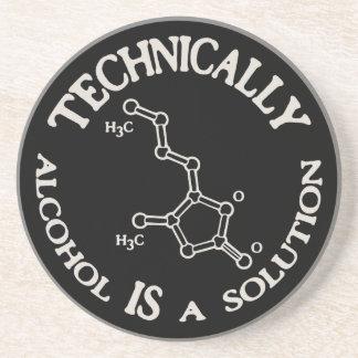 Alcool, une solution dessous de verre en grès