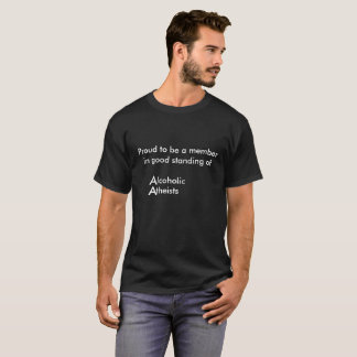 Alcoolique athée t-shirt