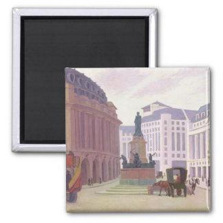 Aldwych (huile sur la toile) magnet carré