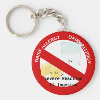 Alerte d'allergie de laiterie porte-clés