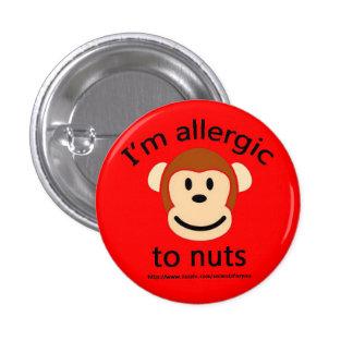 Alerte d'allergie d'écrou badge rond 2,50 cm