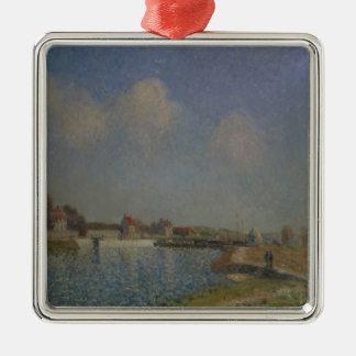 Alfred Sisley   le Loing au Saint-Mammes Ornement Carré Argenté