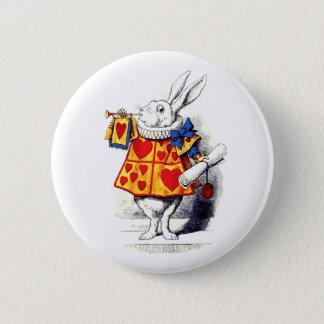 Alice au pays des merveilles le lapin blanc par badge rond 5 cm