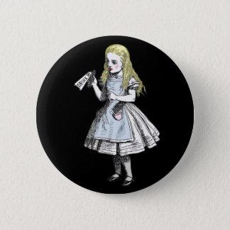 Alice au pays des merveilles magique me boivent badge rond 5 cm