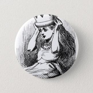 Alice avec une couronne badge rond 5 cm