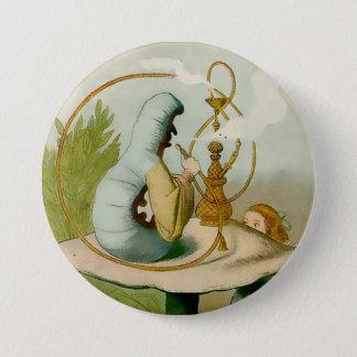 "Alice-Caterpillar avec Hooka - 3"" bouton Badge Rond 7,6 Cm"