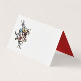 Alice chez le lapin du pays des merveilles avec le carte de placement