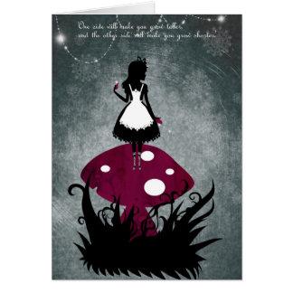 Alice dans la carte du pays des merveilles