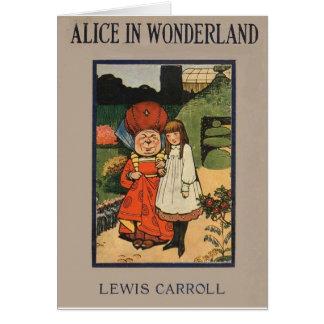 Alice dans la couverture de livre du pays des carte