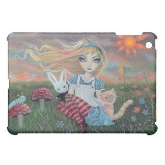 Alice dans le coque ipad d'art d'imaginaire du