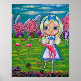 Alice dans le hérisson de lapin du pays des poster